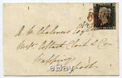 1840 Pl Couvercle 1d Gris-noir. 2 Be À Liverpool Withpoulton / Penny Poster H / S