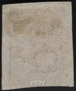 1840 Qv Sg2 1d Penny Noir As56 Plaque 1b 4 Marges Rouge MX CV Utilisé £375