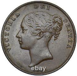 1841 Penny Victoria British Copper Coin Très Nice