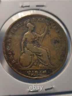 1849 Grande-bretagne Royaume-uni Rare Key Date Penny