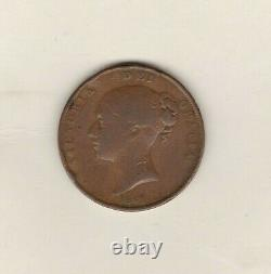 1849 Victoria Penny En État D'utilisation Fine Avec Edge Damage