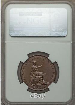 1852 Victoria 1/2 Penny Halfpenny Ngc Ms62 Points Sur La Grande-bretagne Bouclier