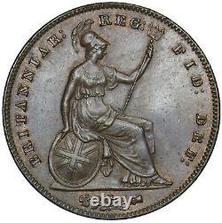 1854 Penny (pt) Victoria British Copper Coin Superbe