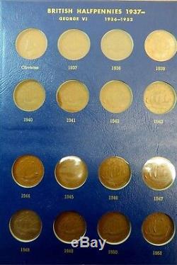 1860 To1967 Unc 109 Coins Ngc Grande-bretagne Uk Half Penny Lot Près Complète