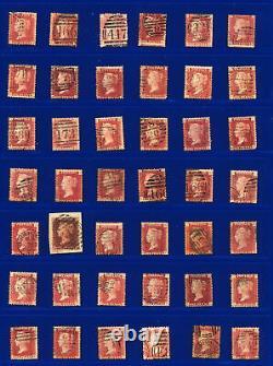 1864-79 Sg43 1d Ensemble De 150 Plaques De Penny 71-224 (sauf 77 Et 225) Cat. £1416 Bcct