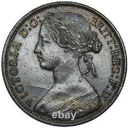 1865 Penny Victoria British Bronze Coin V Nice