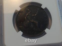 1875h Grande-bretagne Penny Grand Date Ngc Vf 35 Brown