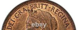 1897 Grande-bretagne 1/2 Penny High Sea Pcgs Ms-64 Rb