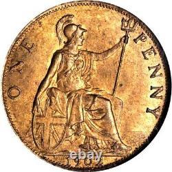 1902 Grande-bretagne 1 Penny, Mbac Ms 65 Rb, Red Brown, Marée Haute