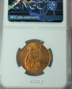 1903 Grande-bretagne Half Penny Ngc Ms 66 Rd Finest Known Top Population (#110)