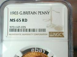 1903 Grande-bretagne Penny Ngc Ms 65 Rd (#119)