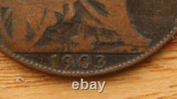 1903 Ouvert 3, Penny, Edward VII (1901-1910) Rare