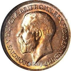 1914 Grande-bretagne 1 Penny, Ngc Ms 65 Rd, Rouge