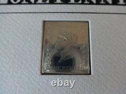 2001 Penny Silver Peinte À La Main Noire Réplique Lingot + Couverture Coa Scarce 1/250