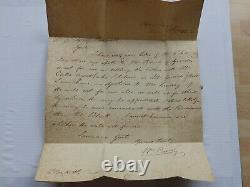 (4333) 1840 Penny Black 4 Marge (pe) Plt 8 Entier À Morpeth (rare Sur La Couverture)