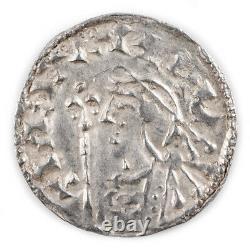 Anglo-saxon, Noix, Argent Type De Croix Courte Penny, Godinc, 1016-35