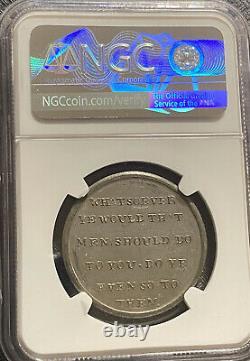 Années 1790 Grande-bretagne Anti-esclavagiste Penny Token Ngc Ms61