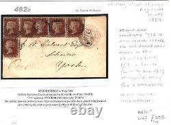 Bg Sg. 17 Couverture 1854 Penny Pink Enregistré 1d Red Multiple Stockbridge Pantalons 482d