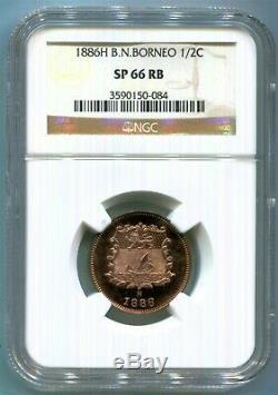 Bornéo Du Nord Britannique 1886h 1/2 Cent Dans Ngc Sp 66 Rb