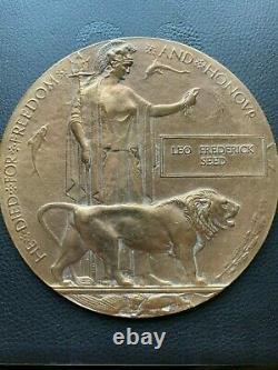 Britannique Ww1 Plaque Commémorative Mort Plaque Mort Penny Seed 64e Bde Rfa