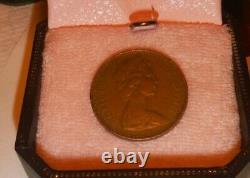 Bronze Rare Deux Pence Pièce 2 New Pence 1971 Elizabeth II Original Old Coin