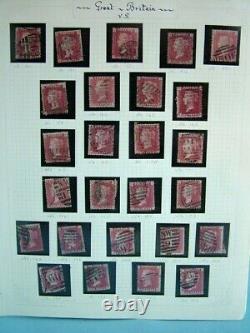 Collection De Timbres-poste Victoriens Penny Red Tous Les Numéros De Plaque Différents