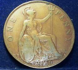 Date Clé 1919 Kn Grande-bretagne Une Pièce De Monnaie Penny Rare Royaume-uni