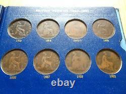 Deluxe Whitman Victoria Penny 1860 1901 Avec 50 Pièces Grande-bretagne Royaume-uni