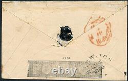 Enveloppe Mulready One Penny Black Plate A150 1840 Avec Croix De Maltrese Rouge Hv3685