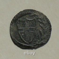 Exceptionnellement Nice, Période Du Commonwealth Martelé Penny Argent 13mm 0.46g S3222 1649