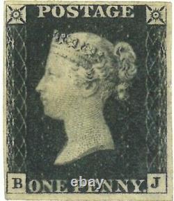GB 1840 1d Penny Black Unbenutzt Briefmarke Inutilisé