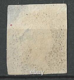 GB 1840 Penny Plaque Noire 1b, Ah, 4 Marges, Croix Rouge De Malte