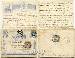 GB 1890 Jubilee Registered Australia Message Exhibition Papeterie Penny Post