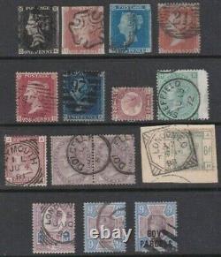 GB Fine Queen Victoria Penny Black Collection Très Haute Valeur Au Catalogue