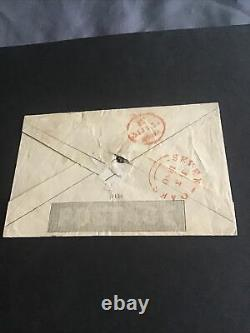 GB One Penny Mulready Enveloppe Utilisée Juillet 1840 Uprated To 2d With Penny Black