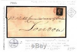 GB Penny Black Cover Irlande Dublin 1d Plate IX (li) Le Jour De Noël 1840 784d