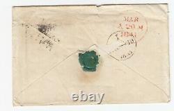 GB Penny Black On Cover (lb) Daté Du 20/3/1841
