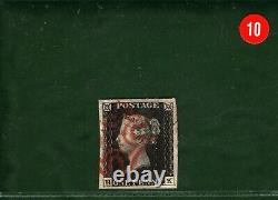GB Penny Black Qv Stamp Sg. 1 1d Plate 4 (hk) Red MX (1840) Cat Occasion £ 525- Red10