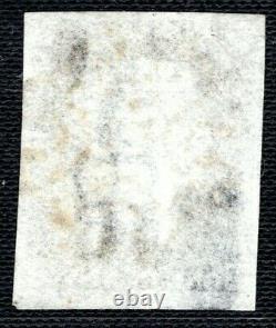 GB Penny Black Qv Timbre Sg. 3 1840 1d Plaque 9 (hg) Lumière Utilisée MX Cat £625+ Xred2