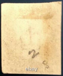 GB Qv 1840 Penny Black Ce Plate 02 Rouge MX 04 Marge Haute C. V£+++