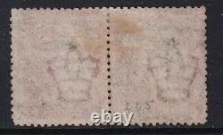 GB Qv Sg44 Penny Red Plate 225 Bonne Paire Utilisée