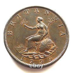 George III Half Penny 1799, Cuivre, Soho, Gefängnge Doublement Avers