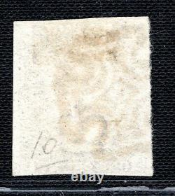Go Penny Black Sg. 2 1d Plaque 10 (sb) Fine MX Usagé Maltese Cross Cat £950 Ored96