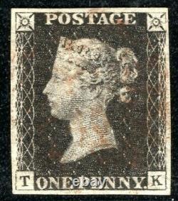 Go Penny Black Sg. 3 1d Assiette 5 (tk) Original Etat 1 Impression Cat 500 £ Xred21
