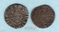 Grande Bretagne. (1272-1307) Edward 1 Argent Pennies X 2. Bristol & Durham Mint