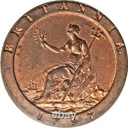 Grande Bretagne 1797 George III Cartwheel Penny Pcgs Ms-64