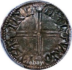 Grande Bretagne Aethelred II (978-1016) Silver Penny Pcgs Au-58