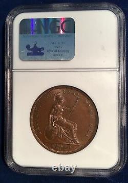 Grande Bretagne George IV 1826 1 Penny Coin, Non Circulé, Certifié Ngc Ms65-bn