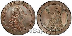 Grande Bretagne. George Iii-1797 Soho Cu Penny. Pcgs Ms63bn Birmingham S-3777