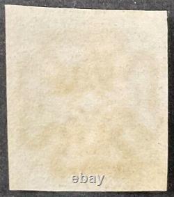Grande-bretagne #1, 1840 Penny Black 4 Marges, Maltese Cross Annuler (sd) Vf, Utilisé